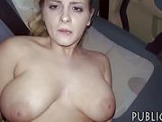 Czech slut flashes her big tits n nailed