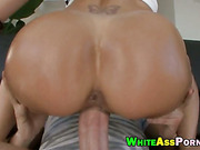 Superb blonde MILF with huge ass pounded