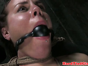 BDSM submissive breast bound by her dom