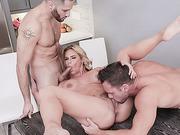 Busty MILF Phoenix Marie takes 2 giant cocks