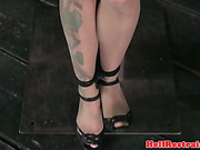 Bonded skank is being whipped by male dominant