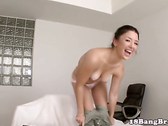 Teen hottie flashes nice tits and ass