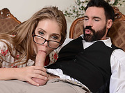 Charles shove his dick into Lenas eager mouth