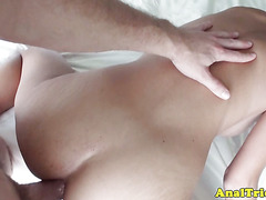 Anal first timer girlfriend ready for anal