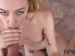 Hairy blonde cutie Lysa law gets fucked by private pervert investigator in the garden