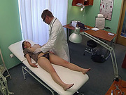 Brunette Edita gets banged in the table