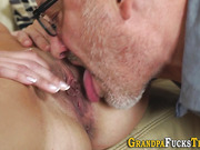 Latina gets old dick cum