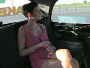 Hot and sexy amateur agrees to give a blowjob for a free taxi ride