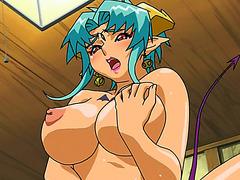 Horny hentai demon girl fucked