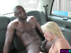 Nasty busty blonde european cabbie fucked