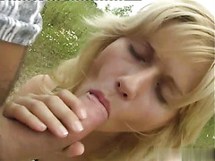 Pretty, petite blonde Sarah Blue gets some as she and her boyfriend go