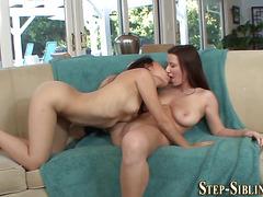 Latina lesbian stepsister