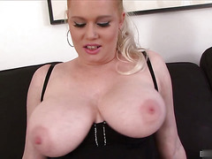 Big Boob Alert Veronika is a hot blonde MILF with big all natural