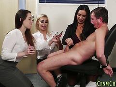 Kinky dominas cream cock