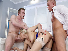 Brittany Bardot gets railed from behind while she sucks