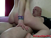 Real european hooker cum swallows