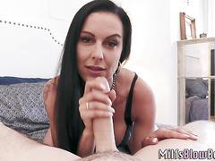 Cougar sucking dick pov