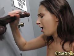 Ho sucking gloryhole dong