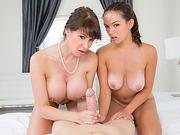 Eva Karera and Shae Summers sharing cock