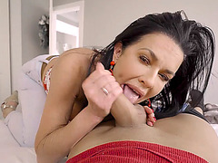 His busty and sexy stepmom sucks better than his new GF