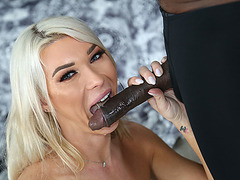 Hot TS Superstar Aubrey Kate receives facial from BBC