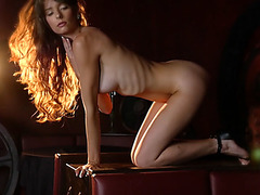 Hot perfect model babes enjoy doing it for a camera