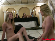 Lesbian college teens strapon fuck