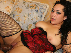 BBW Nina Perez interracial
