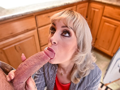 Horny cougar gives young neighbor a welcome sex