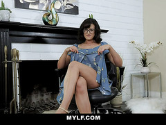 MYLF - Perky Milf Plays With Her Pussy For Stepson