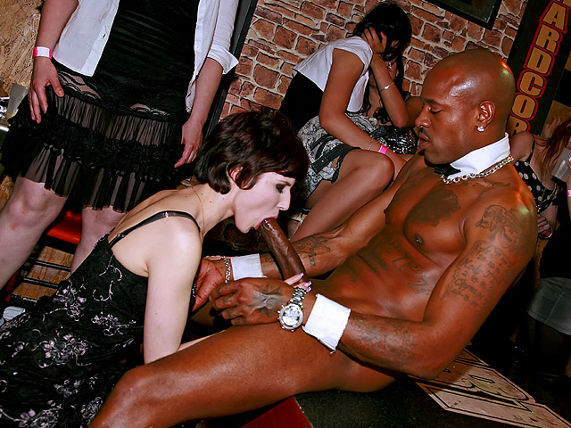 White Girl Sucks A Black Cfnm Strippers Cock