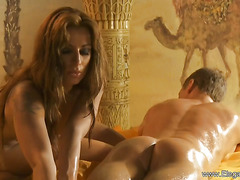 Golden Exotic Massage From Blonde Babe