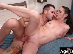 John splashed a hot load of cum covering Mariana's pussy