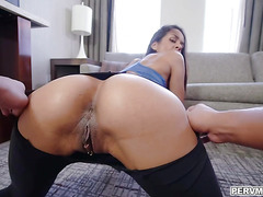 Abby Lee Brazil makes her stepsons cock wet and ready for insertion