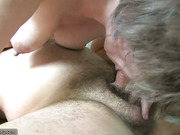 Oldnanny Old lady sucking dick and have sex with young guy