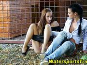 Glam watersports lesbians