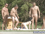 Outdoor sex game orgy
