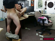 Latina jerks stiff meaty cock and gets doggy style pounding