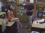 Cute teen Jenny get fucked in pawnshop by a pervy owner