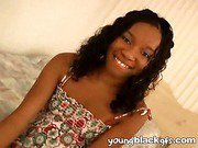 Curly haired young black girlfriend Shayla