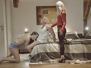 Umas stepmoms insane cock ssweets leads them to threesome sex