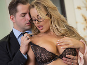 Busty Corrina Blake fucked and facialed
