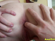 First anal session for amateur gf being doggystyled