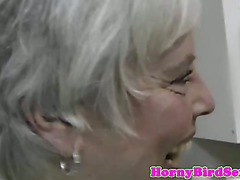 Office cfnm sucking amateur gets cumshot after sex