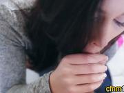 Cfnm teen gets pov facial