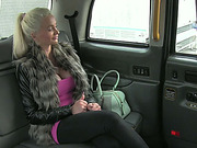 Big tits Cindy shows her boobies and gets facial