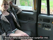 Sexy blonde April rides a taxi and gets convinced to have sex