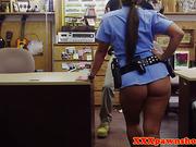 Posing bigass policewoman needing some cash