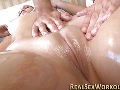 Fit sluts oily massage