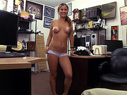 Blonde and beautiful waitress gets a good deal and hammered by Shawn